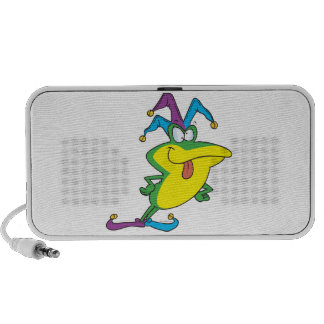 silly jester fool frog cartoon laptop speakers