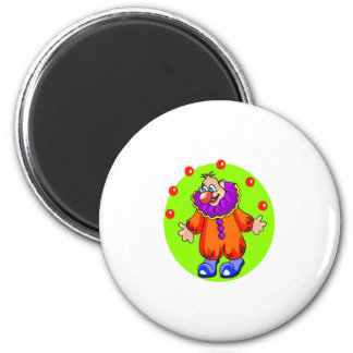 Silly Juggling Clown Refrigerator Magnets