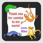 Silly Leaping Lizard Gift Label Sticker
