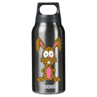 Silly Leopard Bunny Insulated Water Bottle