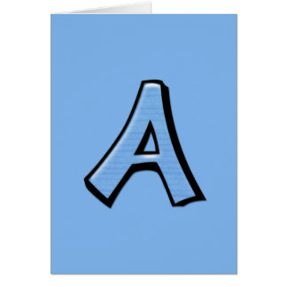 Silly Letter A blue Card