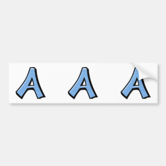 Silly Letter A blue cutout Stickers Bumper Stickers