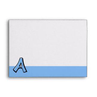 Silly Letter A blue Envelope