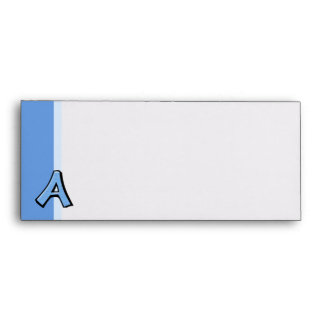 Silly Letter A blue Letterhead Envelopes