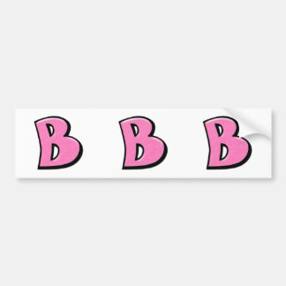 Silly Letter B pink cutout Stickers