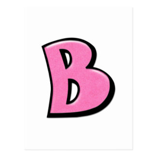 Silly Letter B pink Postcard