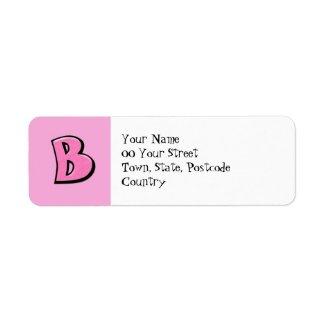 Silly letter b pink letterhead envelopes zazzle for Letter return address labels