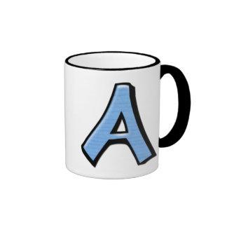 Silly Letters A blue Mug