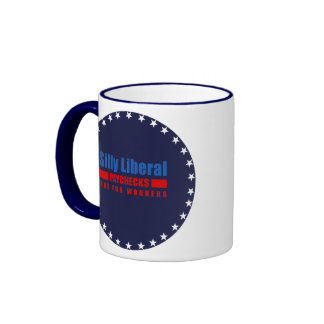 Silly Liberal. Paychecks are for workers. Ringer Coffee Mug