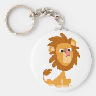 Silly Lion! cartoon keychain