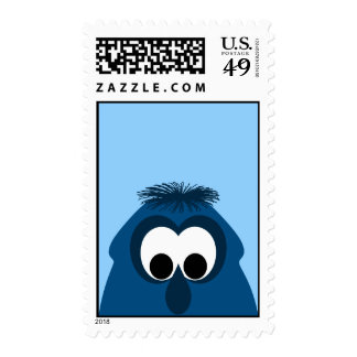 Silly Little Dark Blue Monster Postage Stamps