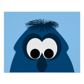 Silly Little Dark Blue Monster Poster