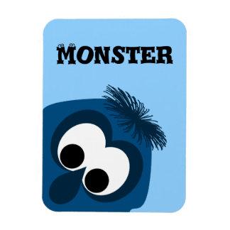 Silly Little Dark Blue Monster Magnet