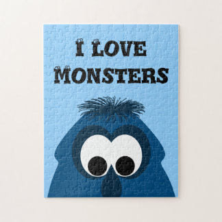 Silly Little Dark Blue Monster Puzzle