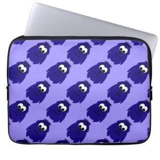 Silly Little Dark Blue Violet Monster Laptop Sleeves