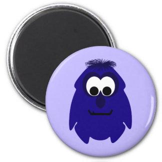 Silly Little Dark Blue Violet Monster Magnet