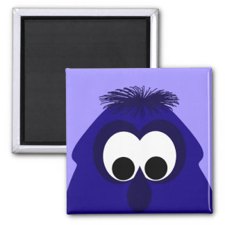 Silly Little Dark Blue Violet Monster Refrigerator Magnet