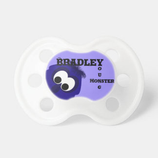 Silly Little Dark Blue Violet Monster Pacifier