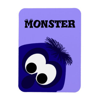 Silly Little Dark Blue Violet Monster Vinyl Magnets