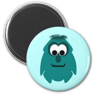 Silly Little Dark Cyan Monster Magnets