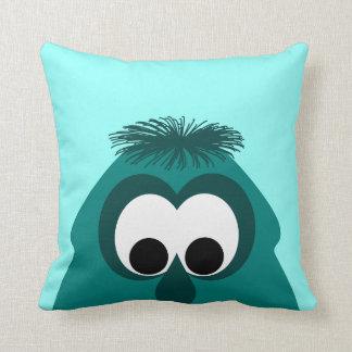 Silly Little Dark Cyan Monster Pillow