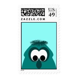 Silly Little Dark Cyan Monster Postage Stamp