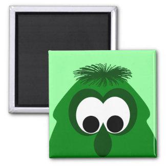 Silly Little Dark Green Monster Magnets