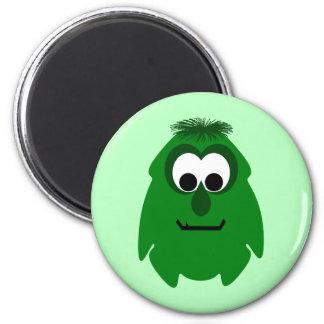 Silly Little Dark Green Monster Fridge Magnet
