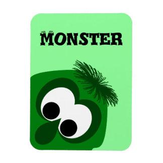 Silly Little Dark Green Monster Flexible Magnets