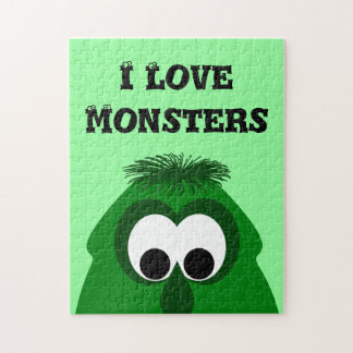 Silly Little Dark Green Monster Puzzle