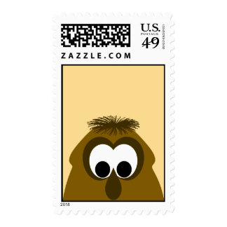 Silly Little Dark Orange Monster Postage Stamp