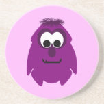 Silly Little Dark Pink Monster Coasters