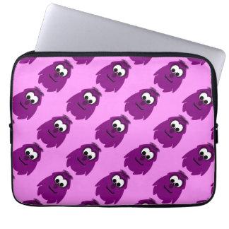Silly Little Dark Pink Monster Computer Sleeves