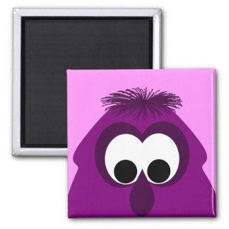 Silly Little Dark Pink Monster Refrigerator Magnet