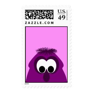 Silly Little Dark Pink Monster Postage