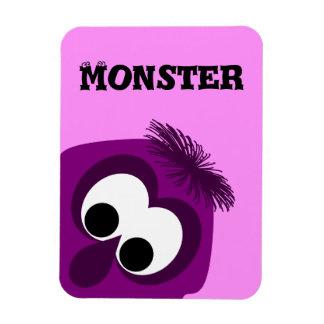 Silly Little Dark Pink Monster Magnet