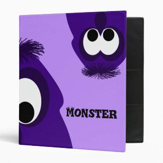 Silly Little Dark Purple Monster 3 Ring Binder