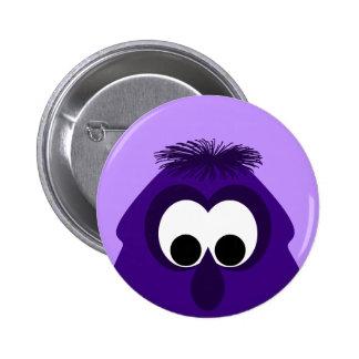 Silly Little Dark Purple Monster Pinback Button