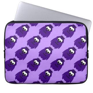Silly Little Dark Purple Monster Laptop Computer Sleeve