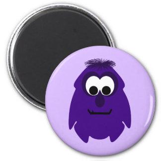 Silly Little Dark Purple Monster Fridge Magnets