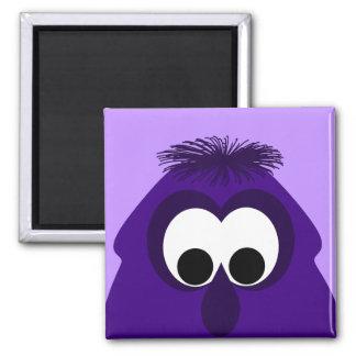Silly Little Dark Purple Monster Magnet
