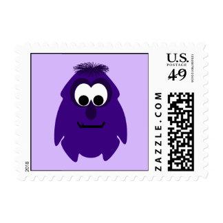 Silly Little Dark Purple Monster Postage Stamp