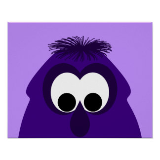 Silly Little Dark Purple Monster Poster