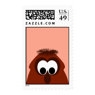 Silly Little Dark Red Monster Postage Stamps