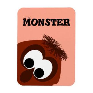 Silly Little Dark Red Monster Rectangular Magnets