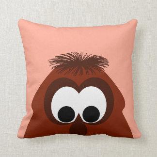 Silly Little Dark Red Monster Throw Pillow