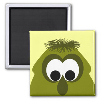 Silly Little Dark Yellow Monster Magnets