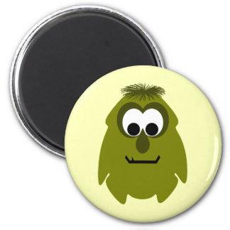 Silly Little Dark Yellow Monster Fridge Magnet