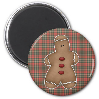 silly little gingerbread cookie 2 inch round magnet
