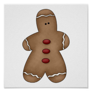silly little gingerbread cookie posters